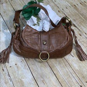 Stuart Weitzman Brown Leather Hobo Handbag
